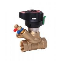 Balansinis ventilis ASV-BD su matavimo antgaliais ir rutulinio ventilio uždarymo funkcija