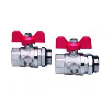 Rutuliniai ventiliai 1 su jungimo antgaliais