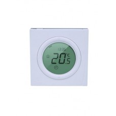 """""""Danfoss"""" """"Basic Plus2""""  WT-P 230 programuojamas, montuojamas į sieną patalpos termostatas 230V/50Hz, temp. ribos 5 –35C, 3(1)A/230V AC"""