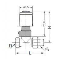 Danfoss terminė pavara TWA-A,normaliai atidaryta, su galinės padėties jungikliu, RA ventilio prijungimas, 24V AC/DC, NC/S, 088H3114